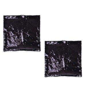 Reversible Embellished Polyester Cushion Covers